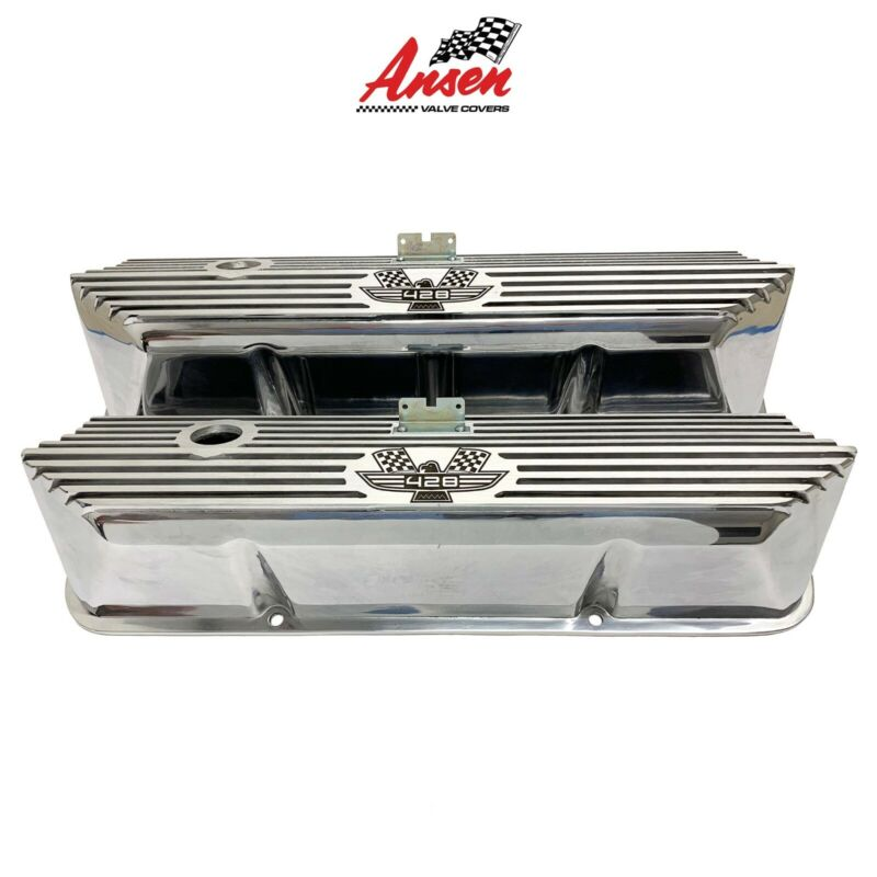 Ansen Ford FE 428 American Eagle Tall Engraved Aluminum Polished Valve Covers • 195$