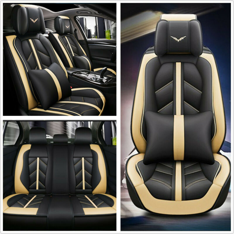 $ CDN186.50 • Buy Deluxe Edition Car Seat Cover Cushion 5-Seats Front+Rear Breathable PU Leather