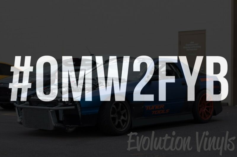 $1.99 • Buy #OMW2FYB Decal Sticker - JDM Lowered Stance Low Drift Slammed Turbo Slammed NOS