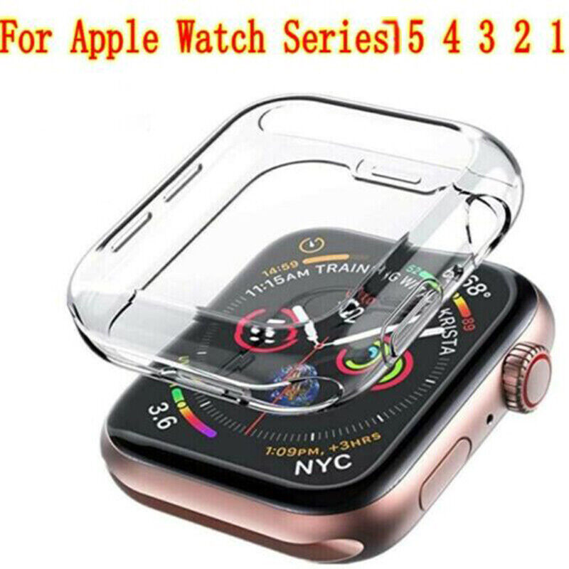 $ CDN0.99 • Buy Lot 10x Apple Watch Series 5 4 3  Case Iwatch TPU Screen Protector 40/44mm Clear
