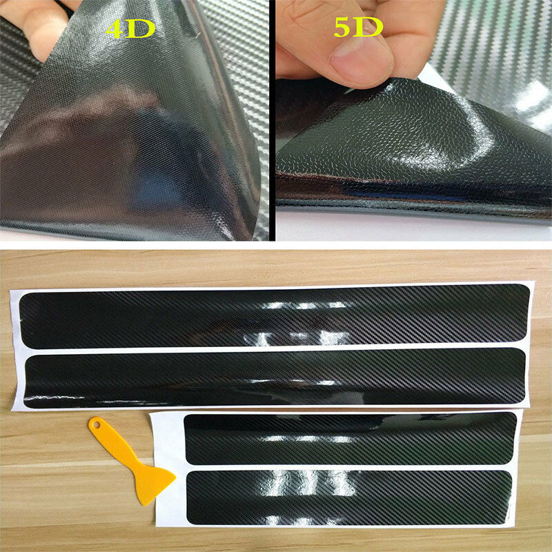 $ CDN9.99 • Buy 5D Carbon Fiber Car Scuff Plate Door Sill Cover Panel Step Protector Accessorie!