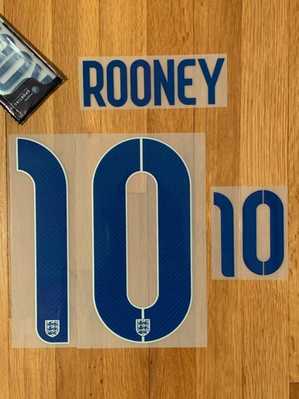 ROONEY 10 - 2014 (World Cup) ENGLAND - HOME - Official Sporting ID Name-Set • 8.99$