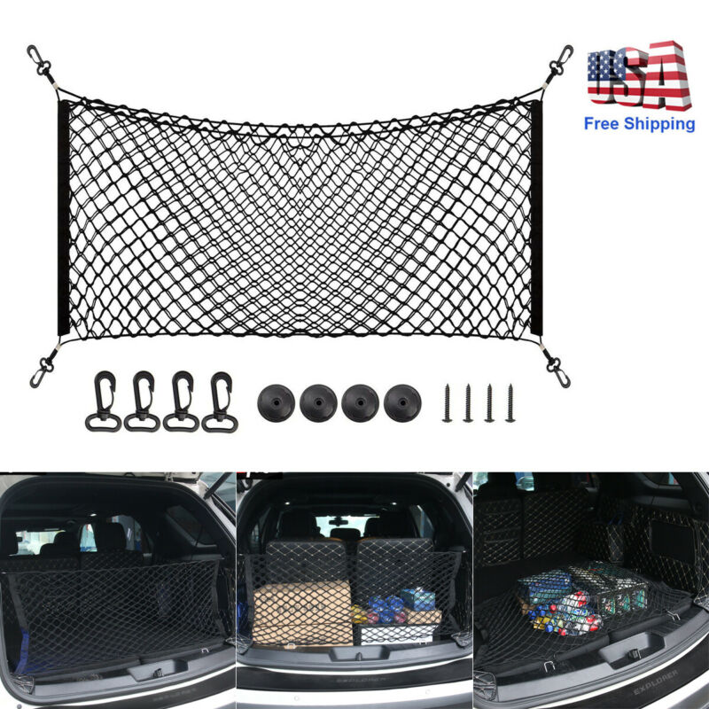 $10.44 • Buy Car Accessories Envelope Style Trunk Cargo Net Storage Organizer Universal Big