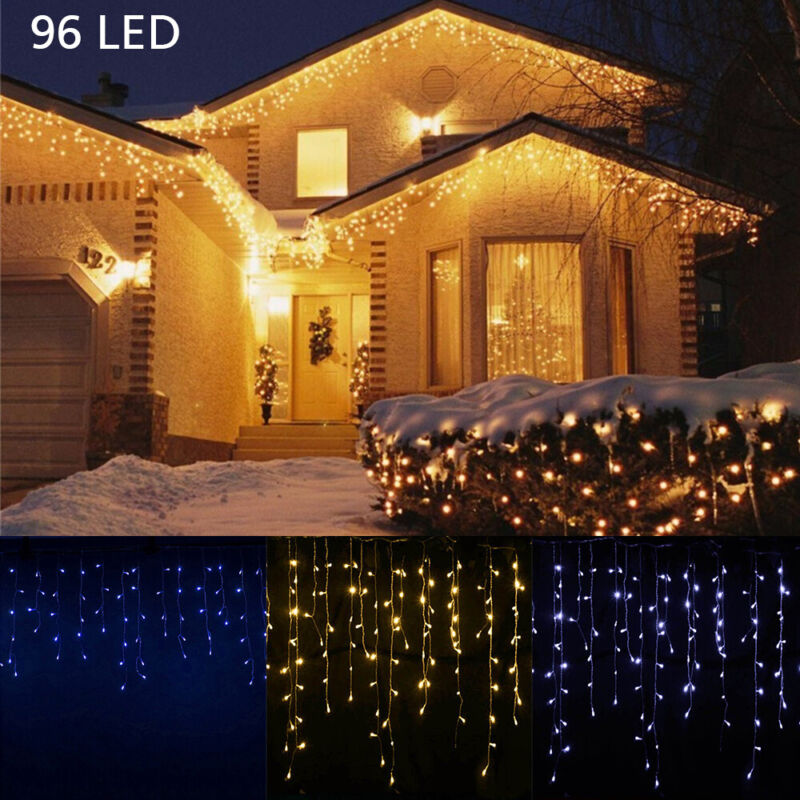 $9.99 • Buy 13-130FT LED Fairy Icicle String Curtain Lights Indoor Outdoor Xmas Decor Garden