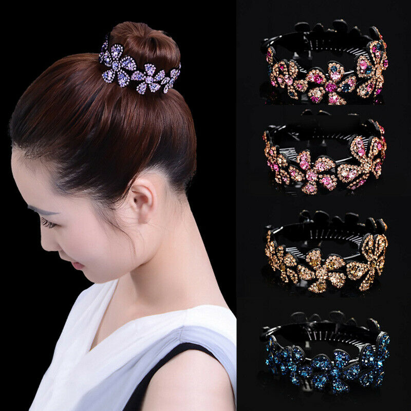 $1.94 • Buy Women Girls Hair Clip Crystal Claw Ponytail Bun Holder Comb Hairpin Fashion Gift