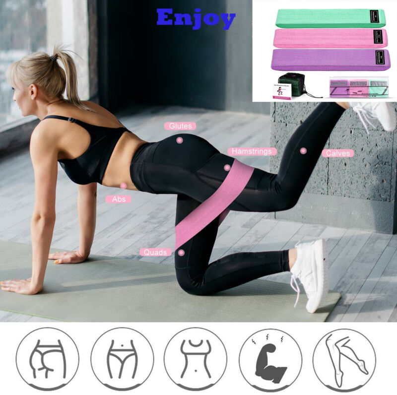 AU24.59 • Buy Fabric Resistance Bands For Legs And Booty Workout Hip Circle Loop Band