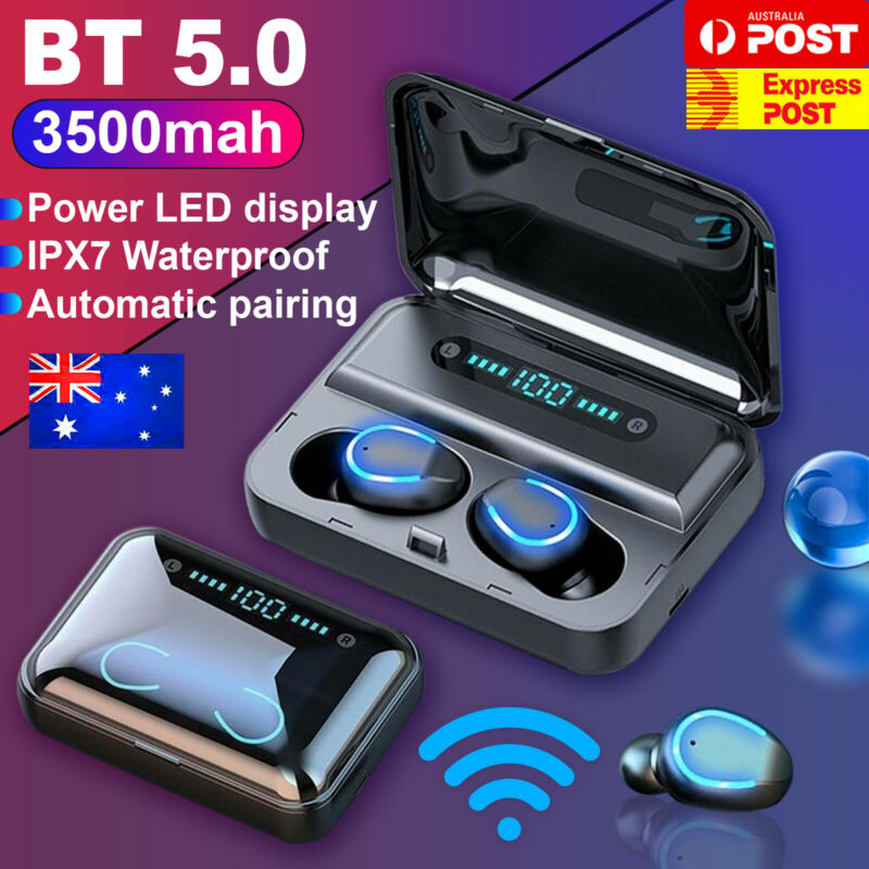 AU26.99 • Buy IPX7 TWS Bluetooth 5.0 Wireless Headset Earphones Earbuds 3500mAh Waterproof