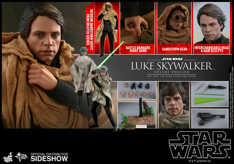 $227.50 • Buy Hot Toys Star Wars Return Of The Jedi LUKE SKYWALKER 1/6th Deluxe Figure MMS517