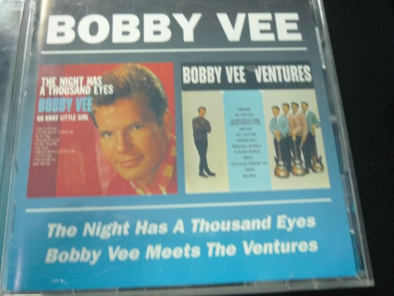 $15 • Buy BOBBY VEE -THE NIGHT HAS A THOUSAND EYES/MEETS THE VENTURES CD 2  Lps On 1 Cd