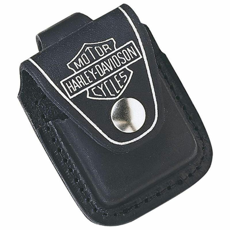Zippo Harley Davidson Leather Lighter Pouch, HDPBK, New In Box • 10.78$