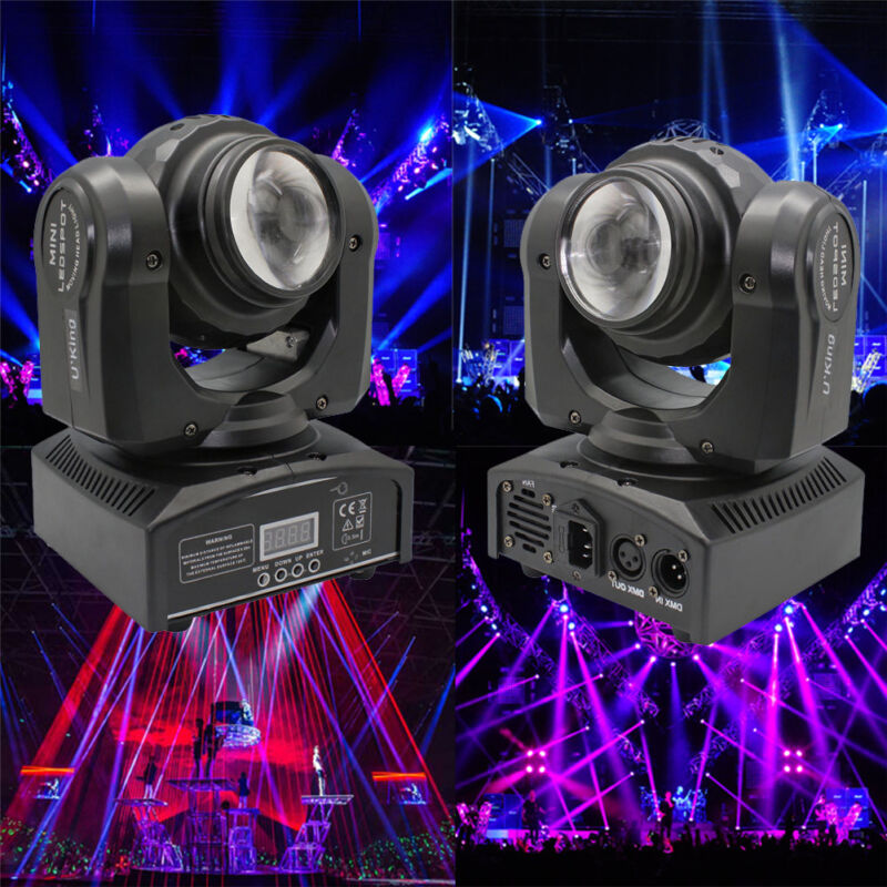 Double Sides 50W Stage Lighting RGBW LED Beam Moving Head DMX512 DJ Disco Lights • 65.54$