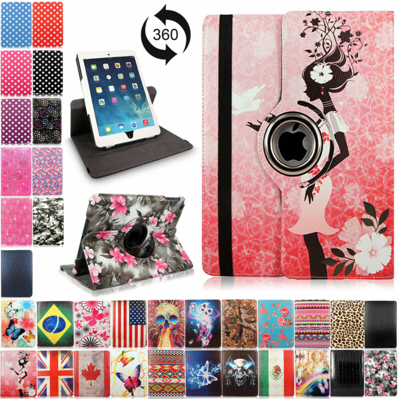$7.99 • Buy For Apple IPad 2 3 4 Mini Air 360 Rotating Leather Case Smart Folio Stand Cover