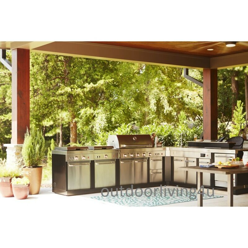 $6161.65 • Buy Ultimate Outdoor Kitchen W/ GRILL, SINK, REFRIGERATOR, STOVE, GRIDDLE &GRANITE