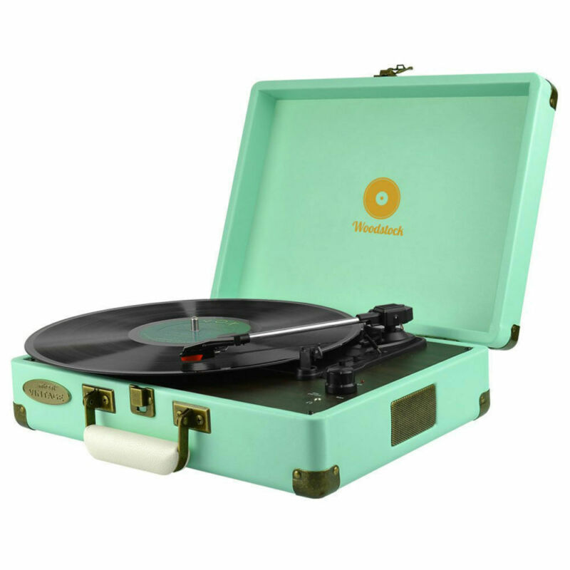 AU114.60 • Buy Mbeat Woodstock Retro Turntable Record Player 3 Speed Vinyl Speaker RCA Out