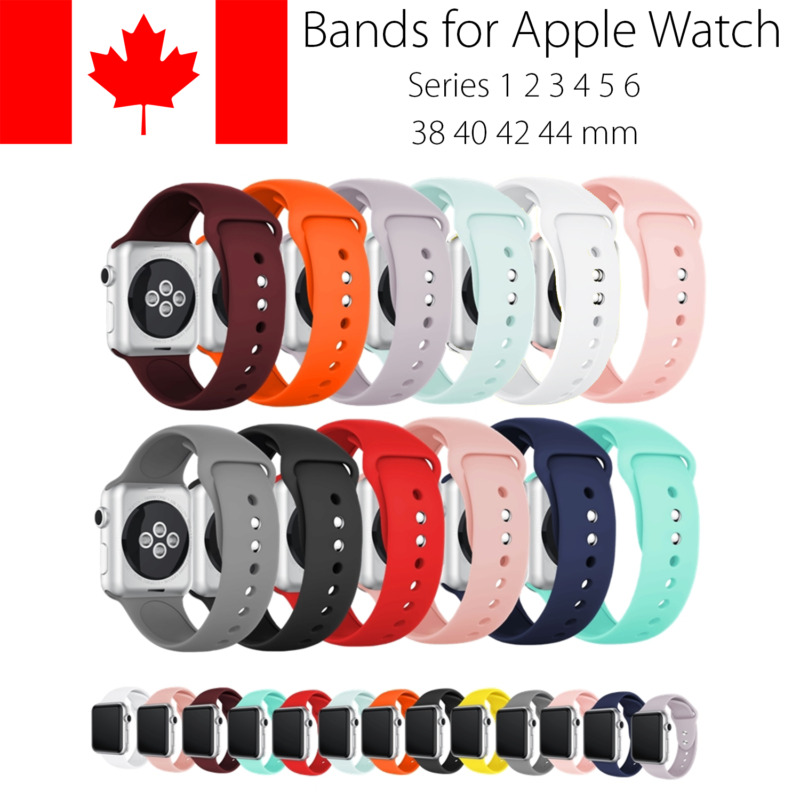 $ CDN5.99 • Buy Replacement Silicone Sport Band Strap For Apple Watch 38mm 40mm 44mm Series 4
