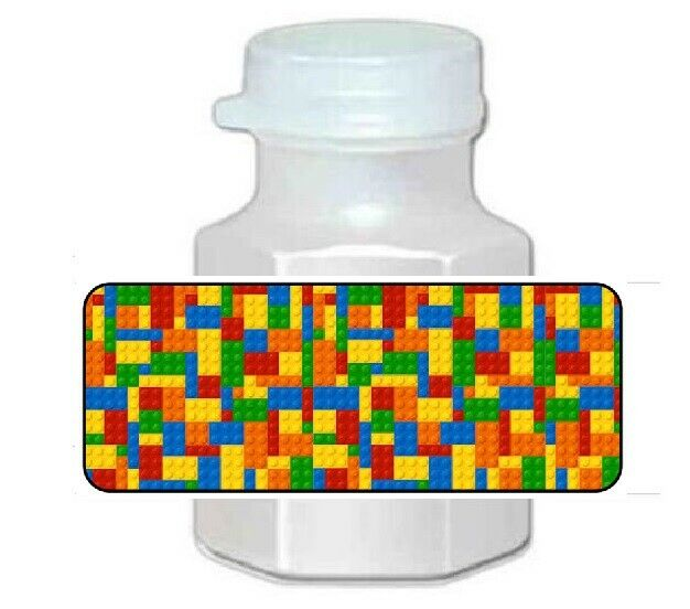 $3.50 • Buy 30 LEGO Birthday Party Favor Bubble Labels