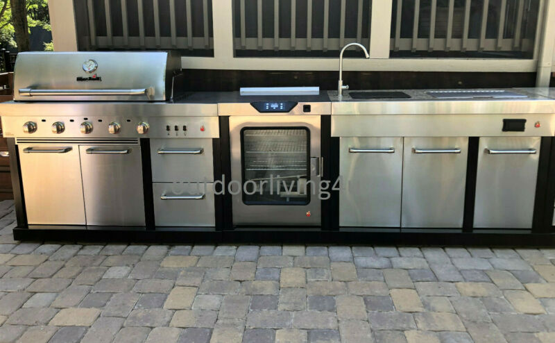 Ultimate Outdoor Kitchen W/ SMOKER, GRILL, SINK, GRANITE + More! • 4,121.65$