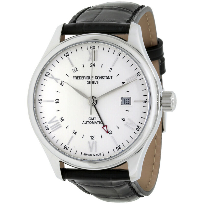 Frederique Constant FC-350S5B6 Men's Classics GMT Automatic 42mm Watch • 599$