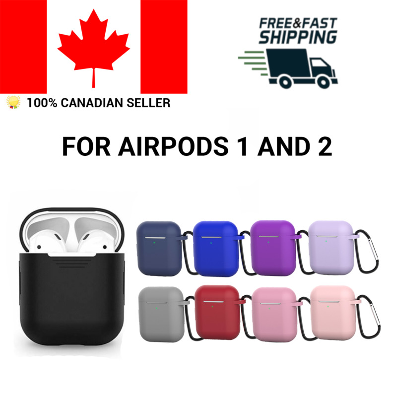 $ CDN5.49 • Buy Silicone Airpods Protective Case Skin Cover For Apple AirPod 1 2 IPhone Clip
