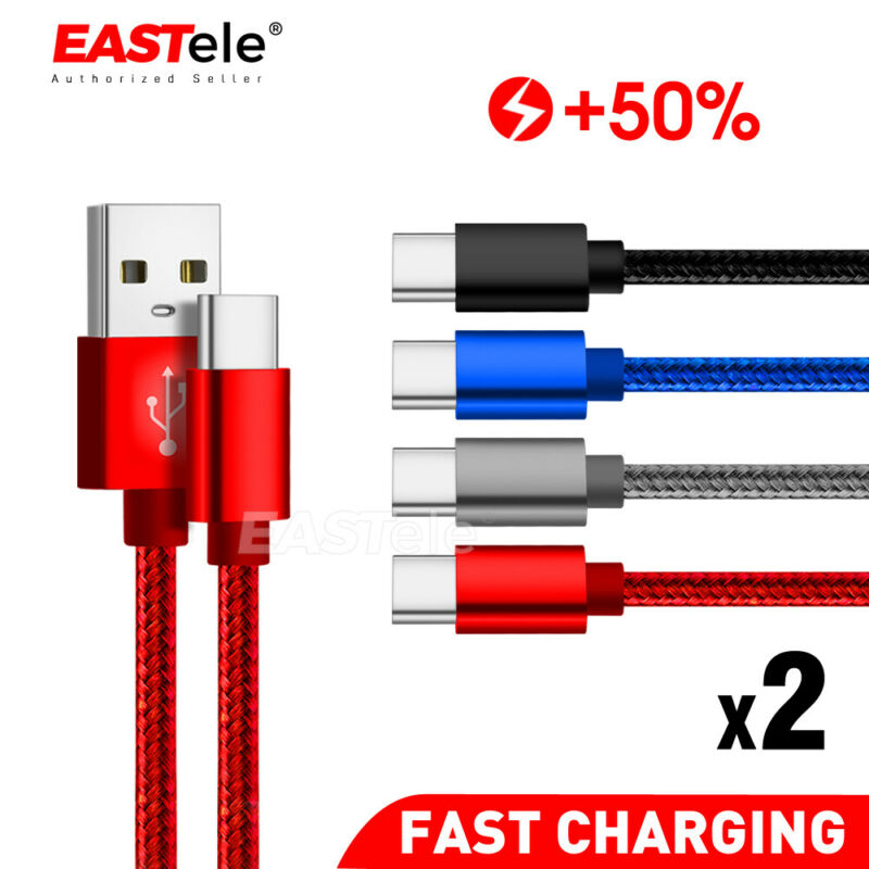 AU6.45 • Buy 2x USB Type C Fast Charging Charger Cable Samsung Galaxy S8 S9 S10 Note 10 Plus