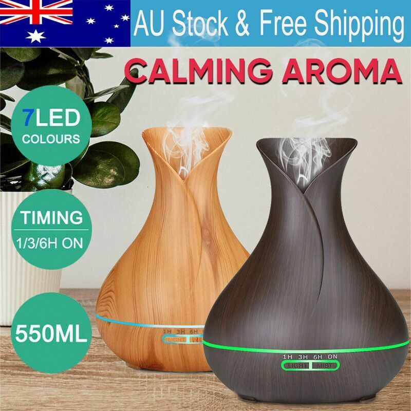 AU29.29 • Buy Aroma Aromatherapy Diffuser LED Essential Oil Ultrasonic Air Humidifier Purifier