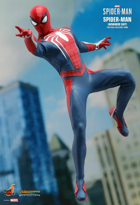 Hot Toys Spider-man Advanced Suit Sixth Vgm31 Scale Figure • 249.99$