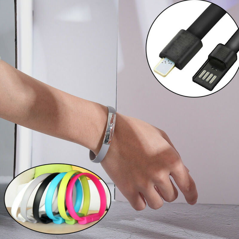 $0.99 • Buy Wristband For IPhone Cable Charger Charging Data Sync Cell USB Cable For Phone