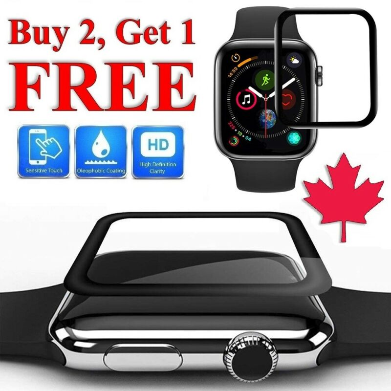 $ CDN5.95 • Buy For Apple Watch Series 38mm 40mm 42mm 44mm 3D Tempered Glass Screen Protector