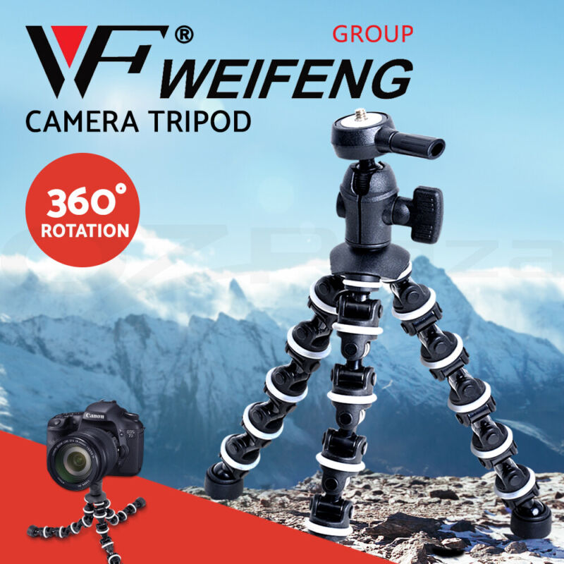 AU18.90 • Buy Weifeng Professional Camera Tripod Stand DSLR Ball Head Mount Flexible Universal