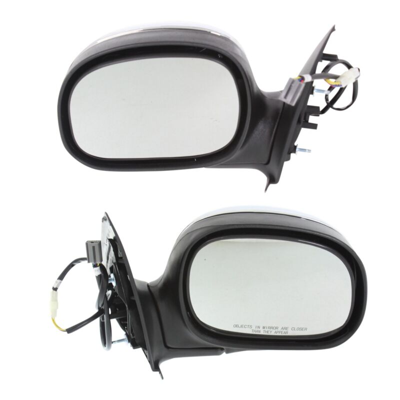$54.11 • Buy Power Mirror Set Of 2 For 1997-2003 Ford F-150 Chrome Left And Right Manual Fold