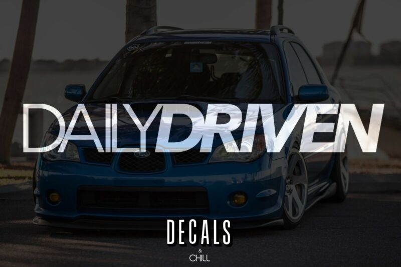 $3.75 • Buy Daily Driven Decal Sticker - Illest Lowered JDM Stance Low Slammed