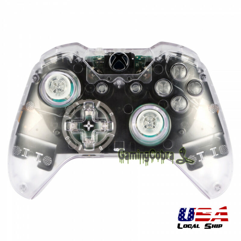 Full Housing Shell Buttons For Xbox One Controller W/3.5 Mm Jack Transparent • 12.39$