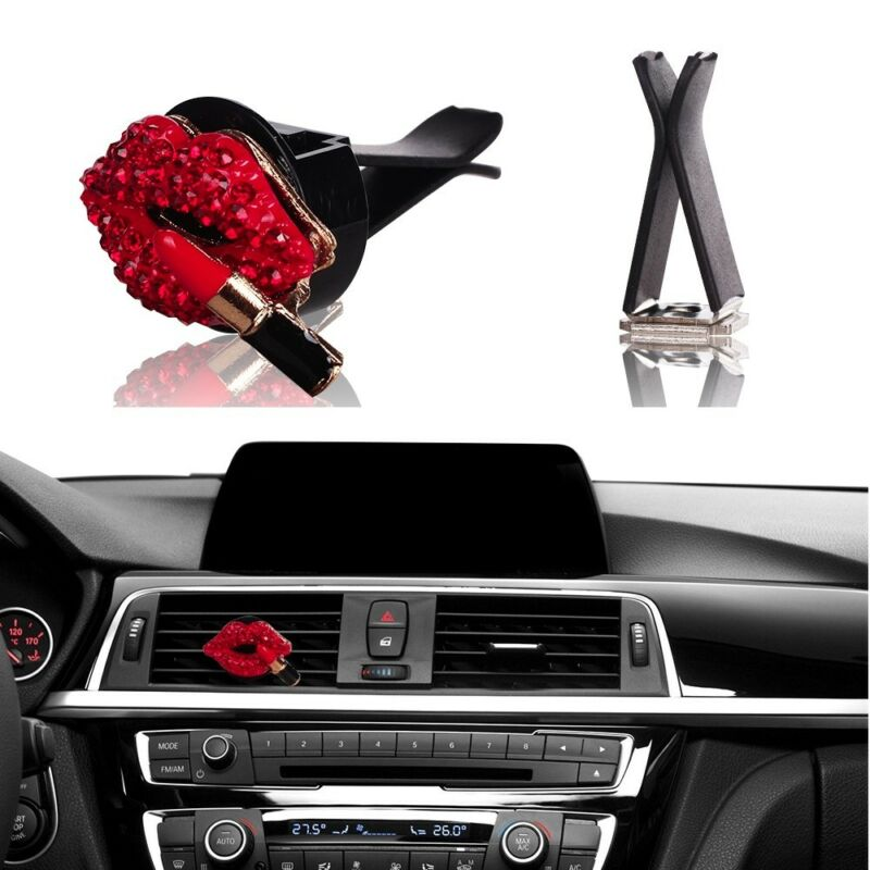 $6.75 • Buy Bling Bling Car Accessories Interior Decoration For Girls Women - Red Lipstick