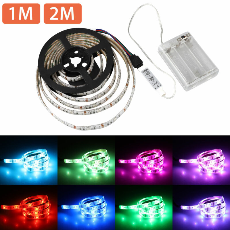 $7.77 • Buy 3.3/6.6ft 5050 SMD RGB LED Strip Light Battery Powered Waterproof Party Light US