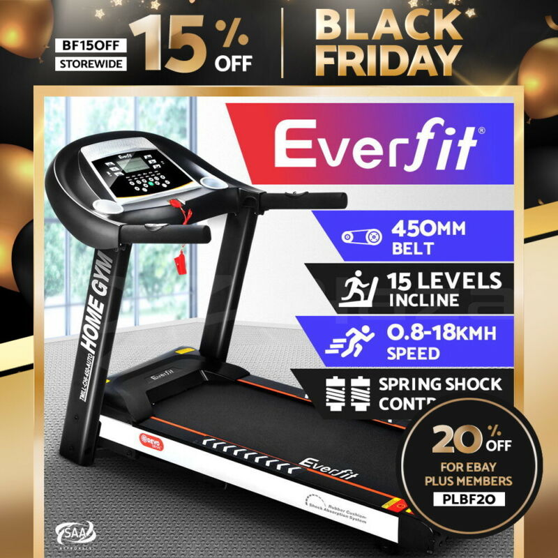 AU589.90 • Buy Everfit Electric Treadmill Auto Incline Home Gym Exercise Machine Fitness Run