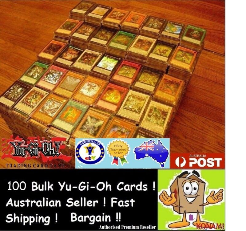 AU9.50 • Buy YuGiOh! 100 Bulk Cards Pack [10 Rares & HOLOS] GENUINE KONAMI. FREE SLEEVES
