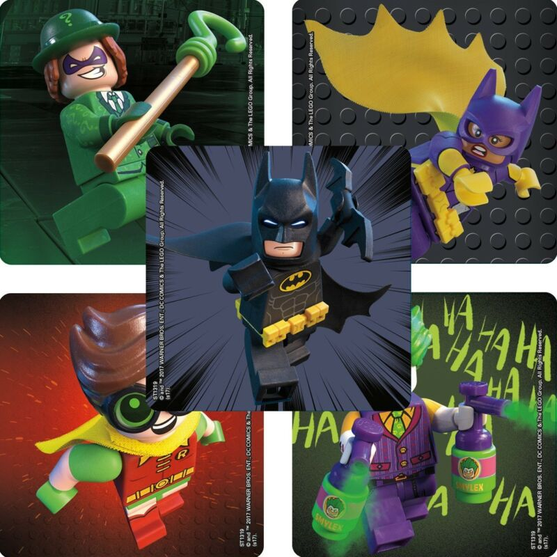 $2.95 • Buy 20 Lego Batman STICKERS Party Favors Supplies Birthday Treat Loot Bags