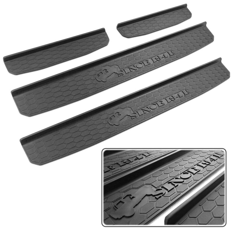 Door Sill Guards Entry Plate Cover For 2018-2020 Jeep Wrangler JL Gladiator JT • 29.44$