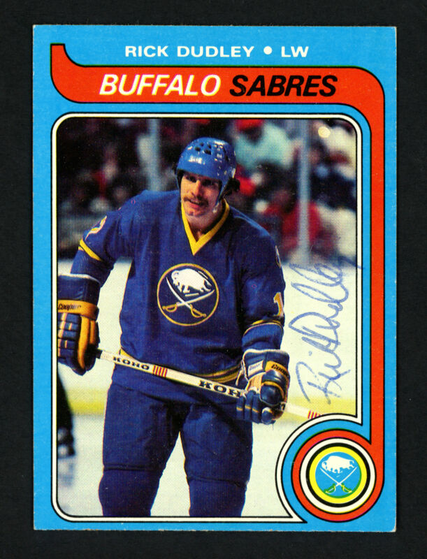 $12 • Buy Rick Dudley Autographed Signed 1979-80 Topps Card #37 Buffalo Sabres 154294