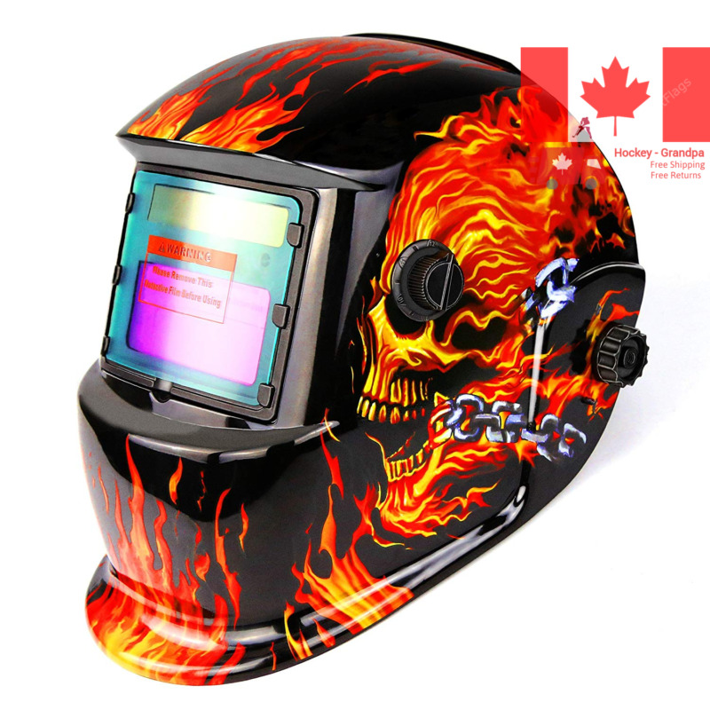 $ CDN47.08 • Buy Welding Helmet Solar Powered Auto Darkening Hood With Adjustable Shade Range ...
