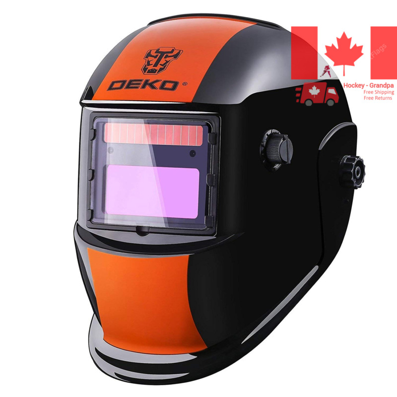 $ CDN44.68 • Buy Welding Helmet Solar Powered Auto Darkening Hood With Adjustable Shade Range ...