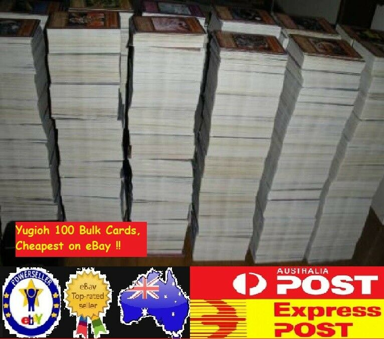 AU5.99 • Buy YuGiOh! 100 Bulk Cards Pack [10 Rares & HOLOS] GENUINE KONAMI