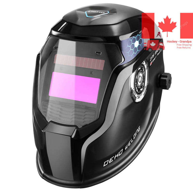 $ CDN64.25 • Buy PRO Solar Powered Welding Helmet Auto Darkening Hood With Adjustable Wide Sha...