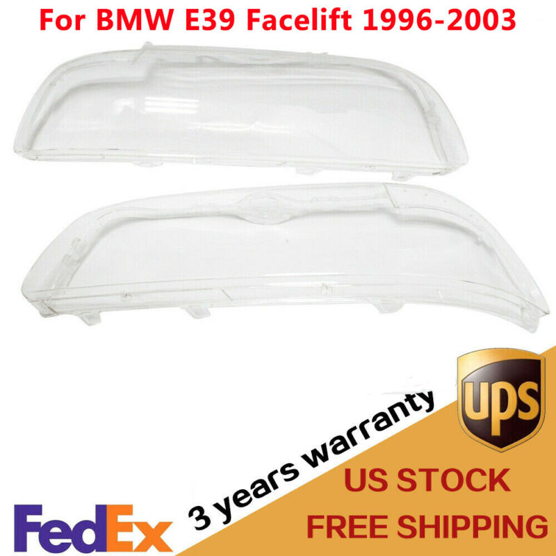 $50.88 • Buy Headlight Lens Cover Clear Head Lamp Shell For BMW E39 Facelift 1996-2003