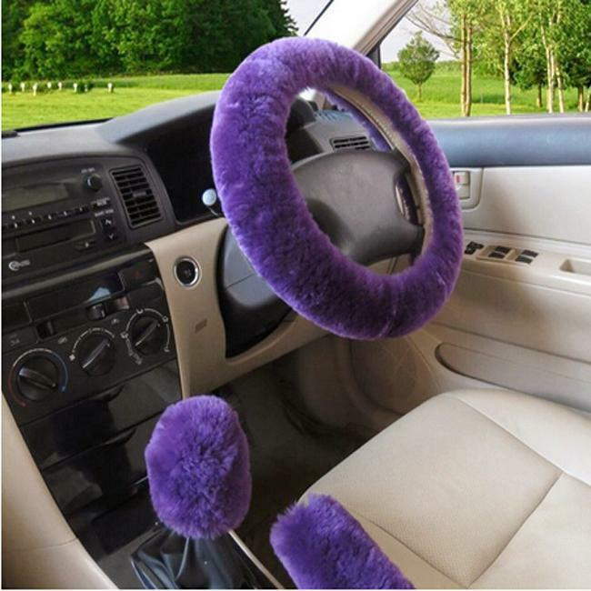 $3.39 • Buy Car Accessories Fluffy Wheel Cover For Women Cute Decoration Auto Steering Wheel