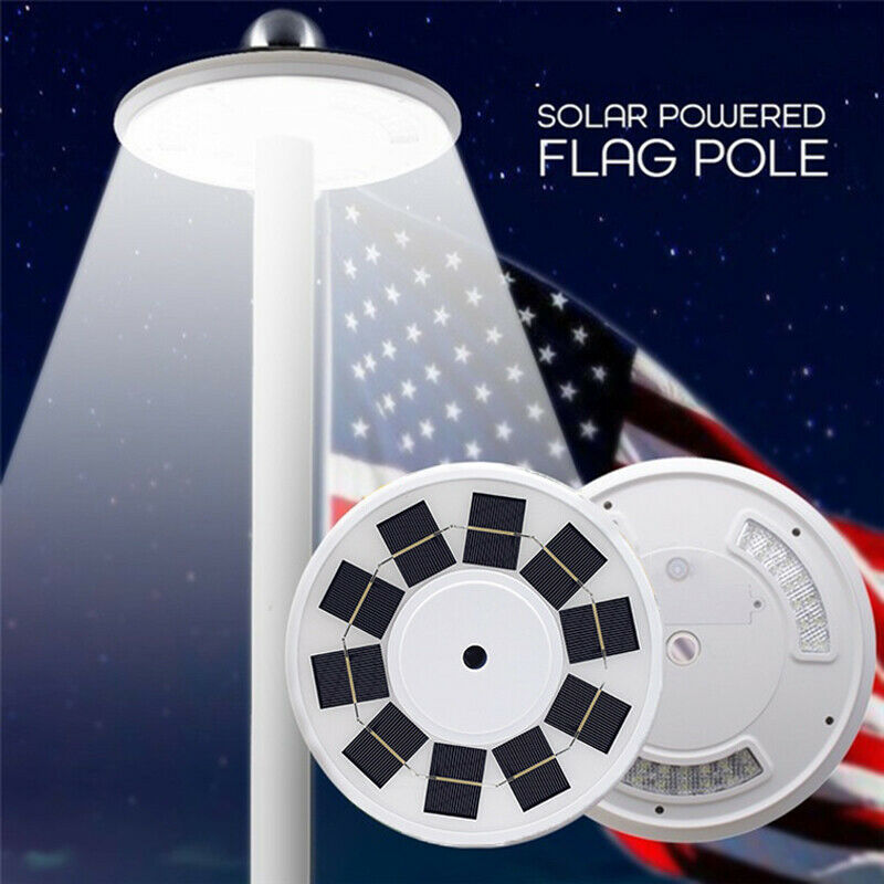 108 LED Flag Pole Solar Power Automatic Light Night Bright Flagpole Light • 27.54$