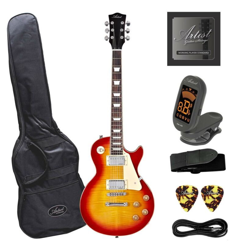 AU269 • Buy Artist LP60 Cherry Sunburst Electric Guitar With Accessories - New