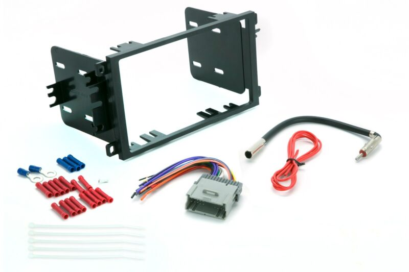 $14.98 • Buy Double Din Dash Package Kit For Stereo Radio Install W Harness Antenna