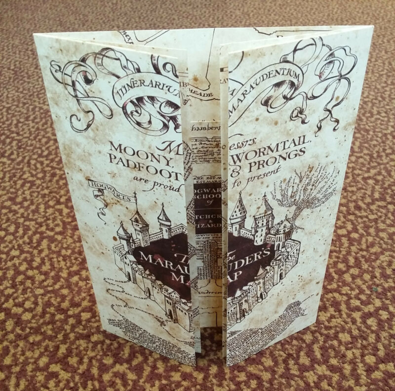 $7.99 • Buy The Marauder's Map Hogwarts School Of Witchcraft & Wizardry - Harry Potter, NEW!