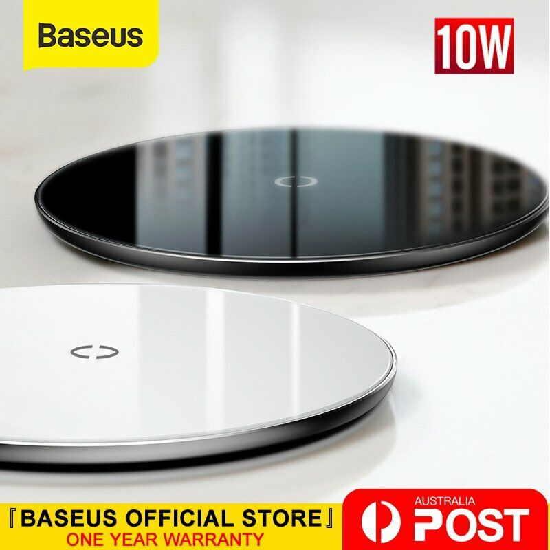 AU25.89 • Buy Baseus Wireless Charger Qi 10W Fast Charging For IPhone X 8 XS XR Samsung S10 S9